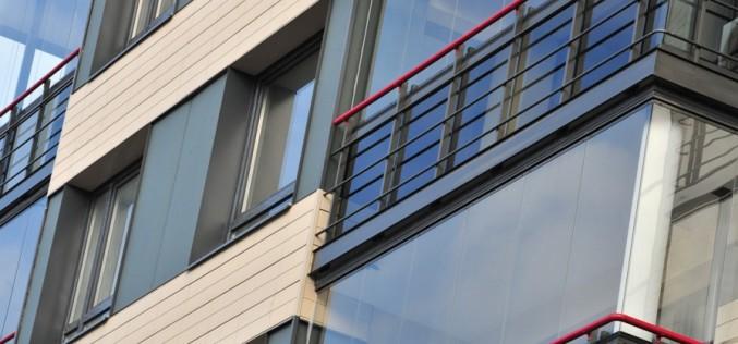 Санация существующих зданий с использованием  балконов Schüco