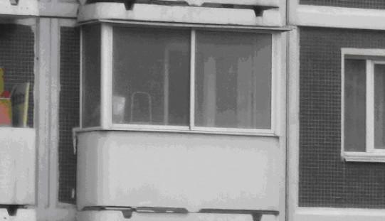 Остекление балконов и лоджий дома серии копэ.