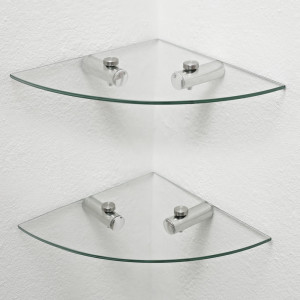 Glass shelves in the interior-8