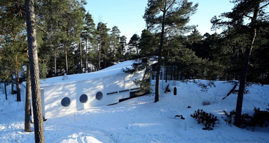 Финский дом в лесу