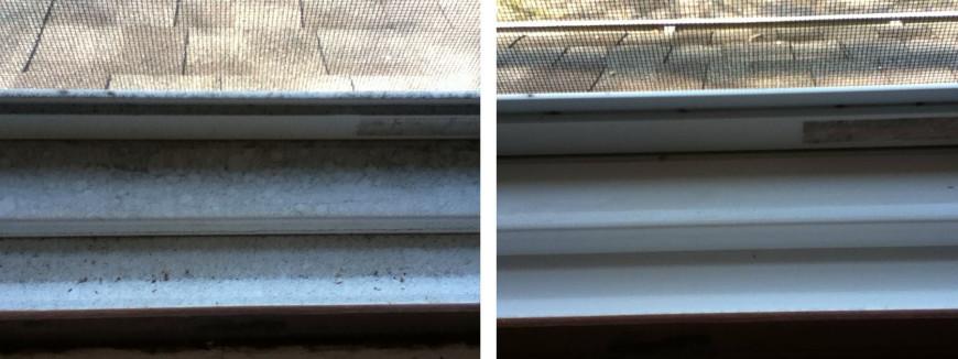 Как отмыть окно от плесени