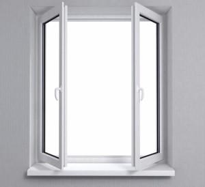 Штульповое окно с двумя ручками